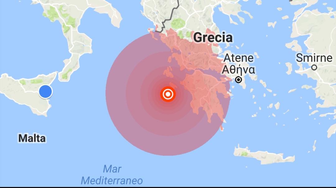 Trema la Sicilia e parte dell'Italia: scossa 6.8 al largo della Grecia, scossa anche nel Catanese