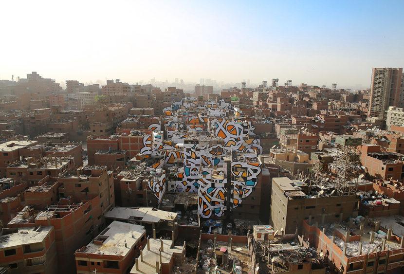 """""""Perception"""", il murales che trasforma e aiuta la città dei rifiuti"""