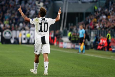 Juventus-Young Boys - Champions League 2018/19 - Gruppo H - Nella foto: Paulo Dybala esulta dopo il gol  - Juventus