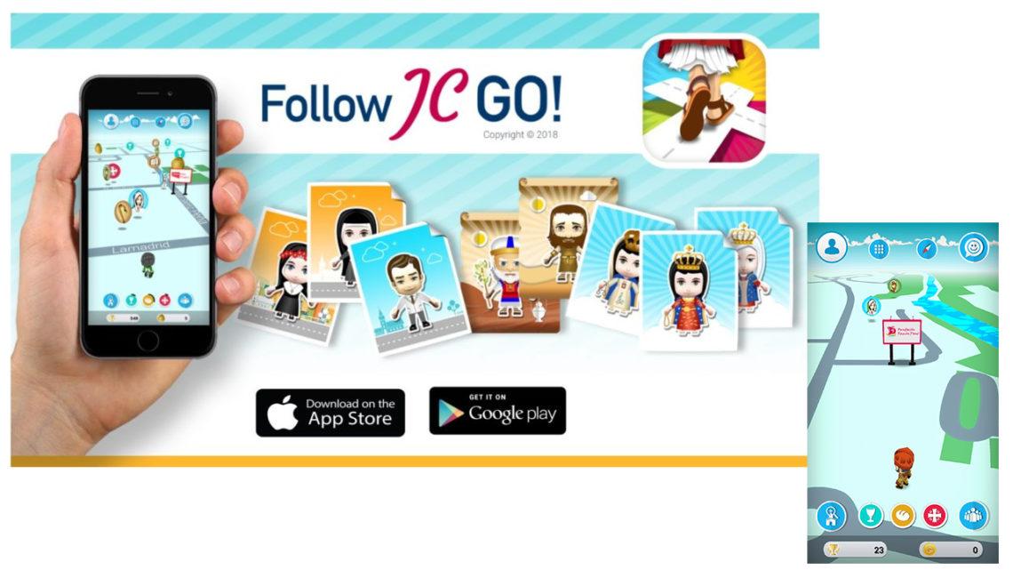 Per il 1° novembre, cattura anche tu i santini con Follow JC Go