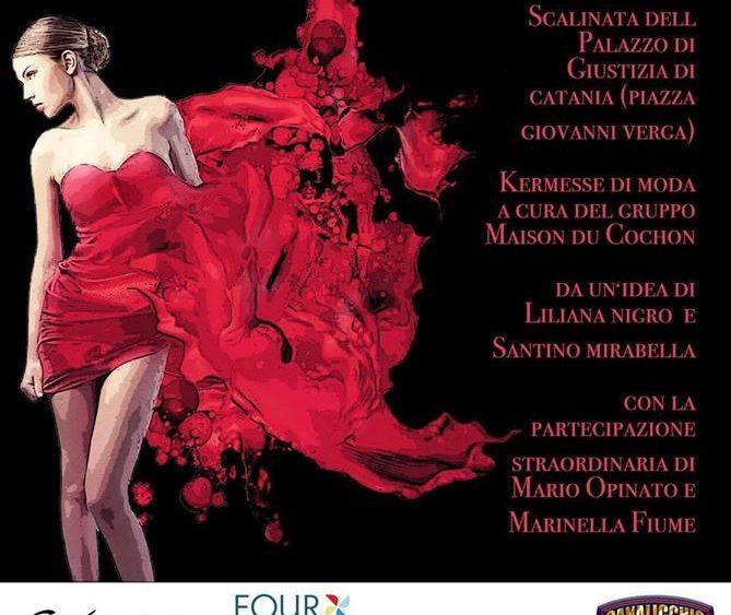 """Grande partecipazione per l'evento """"Rosso la sera. No al femminicidio"""""""