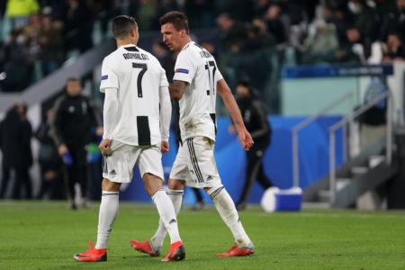 Juventus-Valencia - Champions League 2018/19 - Nella foto: Cristiano Ronaldo e Mario Mandzukic - Juventus