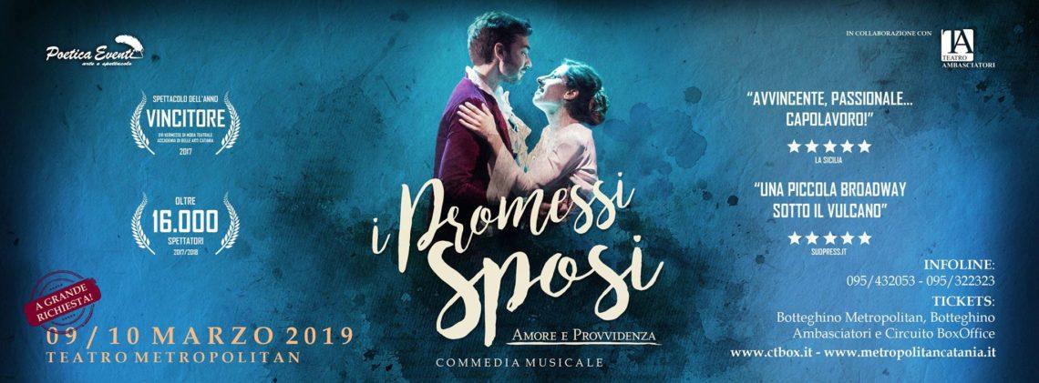 """Al Teatro Metropolitan nuove repliche de """"I Promessi Sposi"""""""