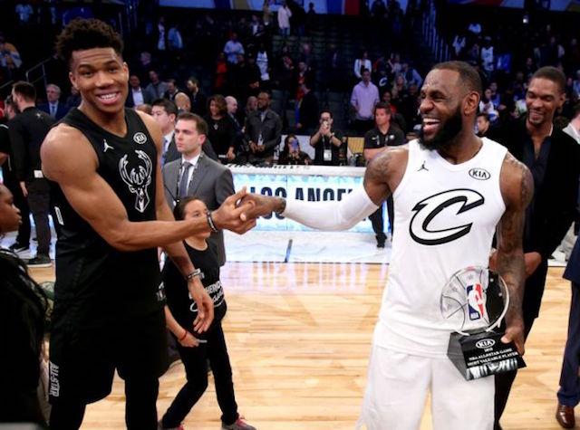 NBA: LeBron James e Giannis Antetokounmpo capitani dell'All Star Game