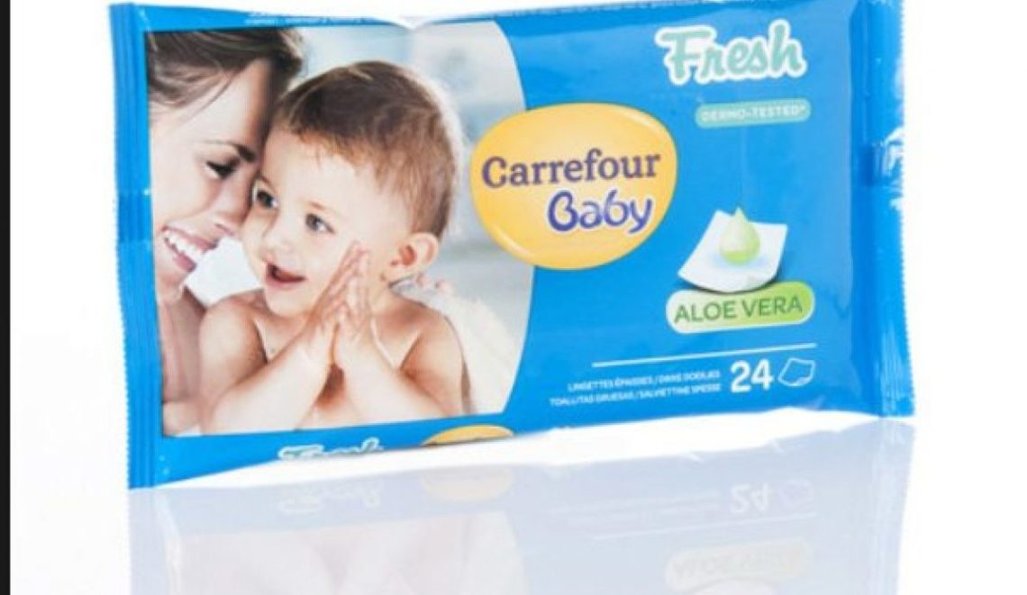 """Batterio del genere """"Burkholderia"""" presente nelle salviette per bambini: Carrefour dispone ritiro dai supermercati"""
