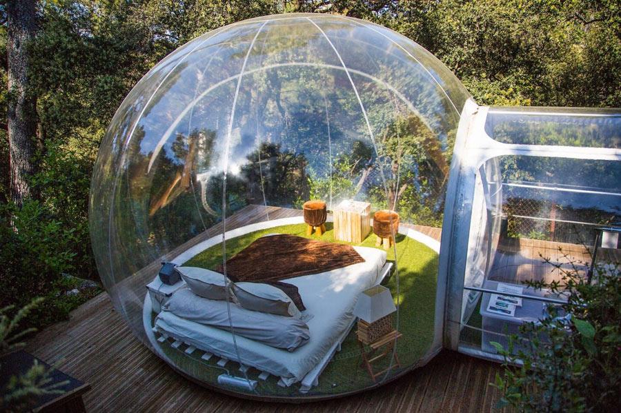 """""""Bubble room"""": il comfort in una bolla tra la natura e le stelle"""