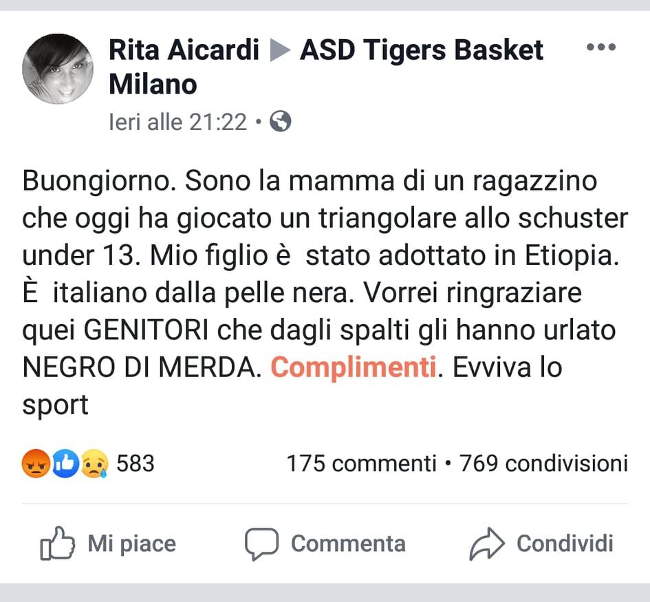 """Milano, gridano """"negro di…"""" a un bambino durante partita di basket"""