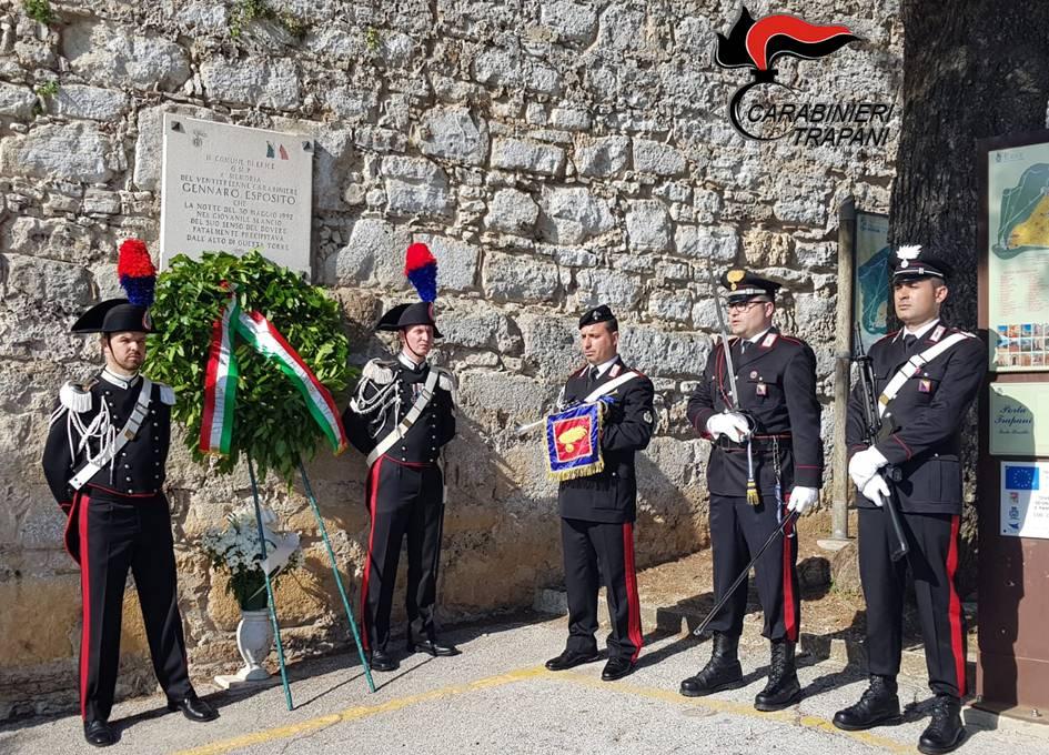 Erice: 27esimo anniversario della morte del carabiniere Gennaro Esposito