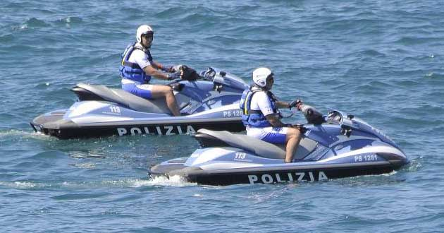 Polizia di Stato: esibizione delle moto d'acqua sabato pomeriggio