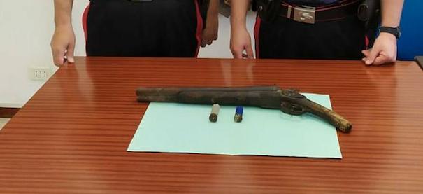 Calatafimi-Segesta: i Carabinieri arrestano incensurato per possesso di una lupara armata con matricola abrasa