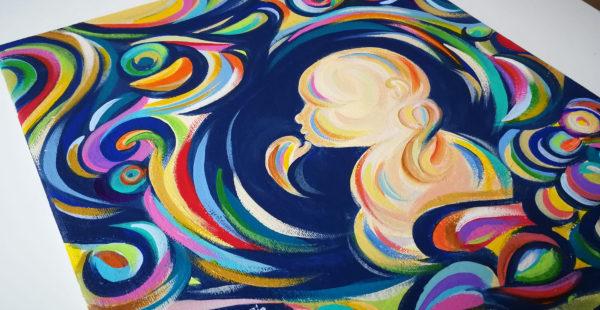 Gravidanza e arte: Laura Steerman trasforma le ecografie in dipinti