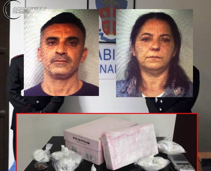 Cocaina nella scatola delle scarpe per 150mila euro: arrestata coppia di conviventi