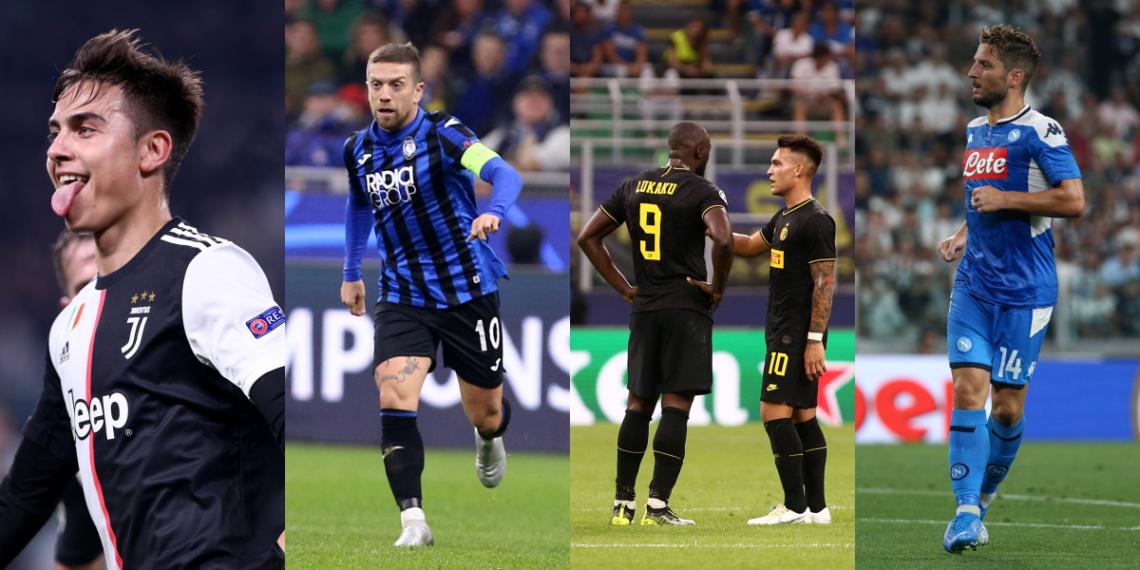 Champions League: Dea, Inter e Napoli fanno le big, Juve passa da prima