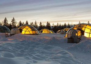 Ti piacerebbe assistere all'aurora boreale attraverso un igloo di vetro?