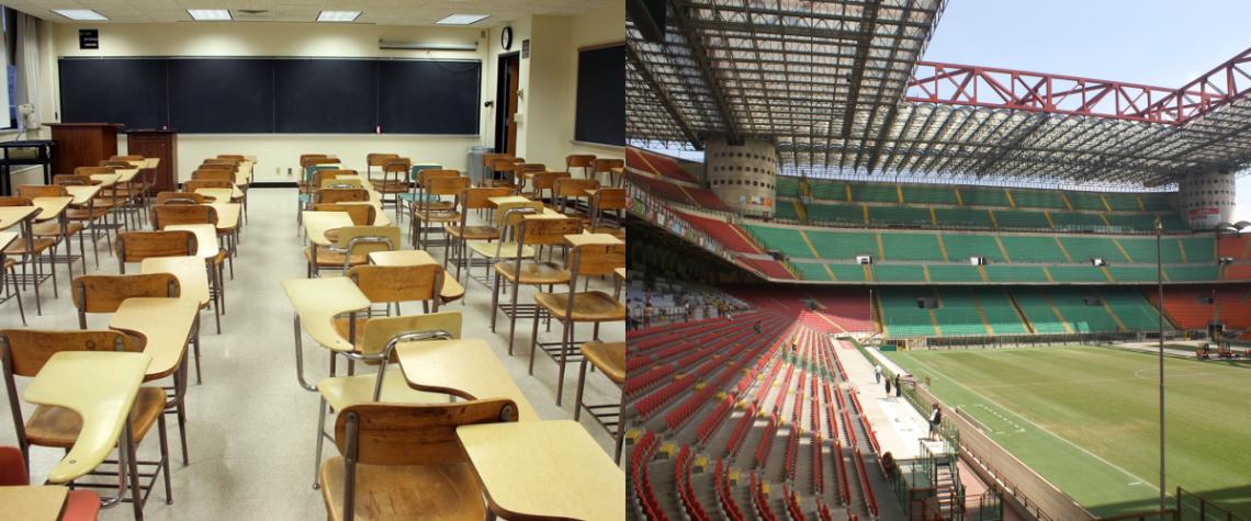 Coronavirus: tra scuola, università e campionati l'Italia si ferma