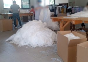 Controlli della divisione P.A.S.: laboratorio tessile realizzato ad hoc per emergenza Covid