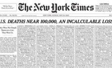 New York Times: prima pagina con nomi e storie delle vittime da Covid-19