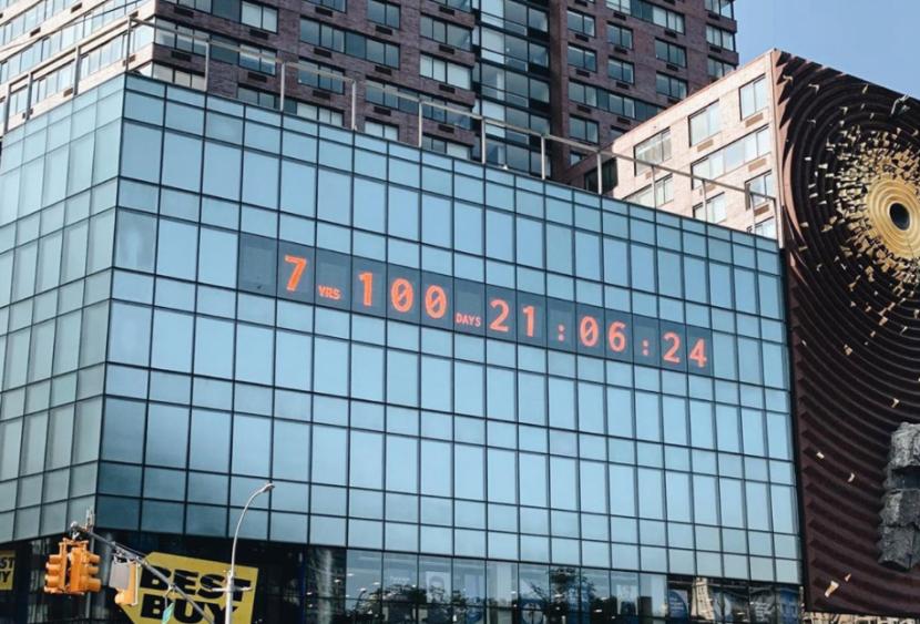 A Manhattan il Climate clock: quanto manca per fermare il riscaldamento globale?