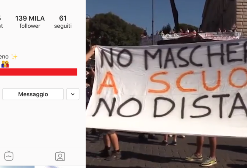 «Non ce n'è coviddi» su Instagram e i no Mask a Roma: essere negazionisti ai tempi del Coronavirus