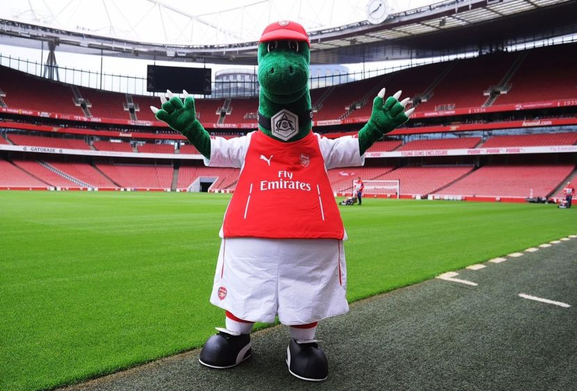 Arsenal: la mascotte Gunnersaurus ai saluti, è solo un arrivederci?