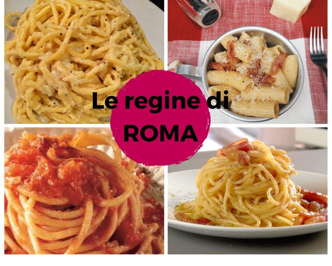 Le quattro regine di Roma: cacio e pepe, gricia, amatriciana, carbonara
