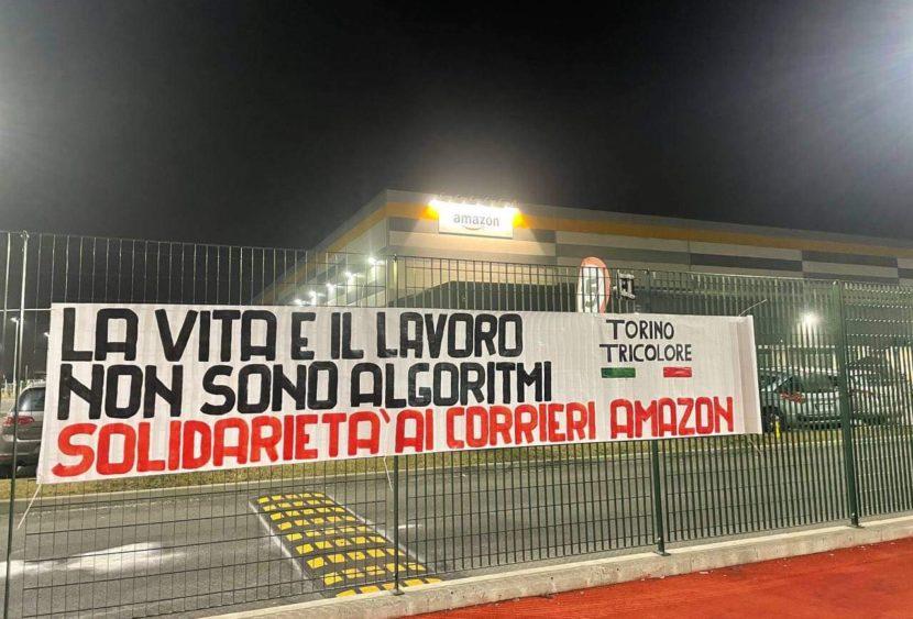 Brandizzo (TO): protesta dei corrieri Amazon