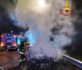 Viale Mediterraneo, incidente auto-moto: vettura in fiamme, centauro in ospedale – FOTO e VIDEO