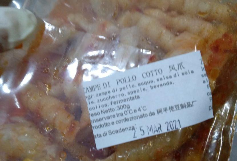 Sequestrato cibo in pessimo stato di conservazione a una cittadina cinese