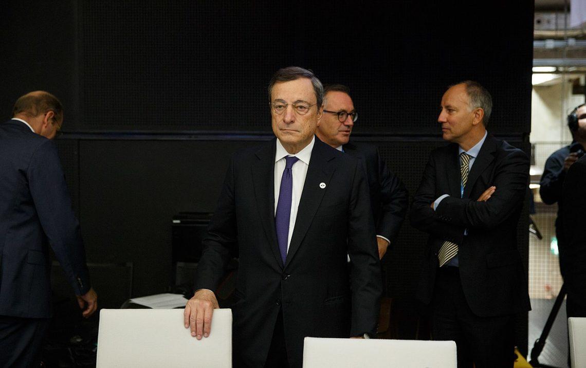 Il neo-premier Mario Draghi in Aula al Senato. In serata si voterà la Fiducia