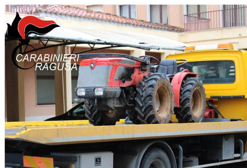 I Carabinieri recuperano due trattori e due atomizzatori rubati