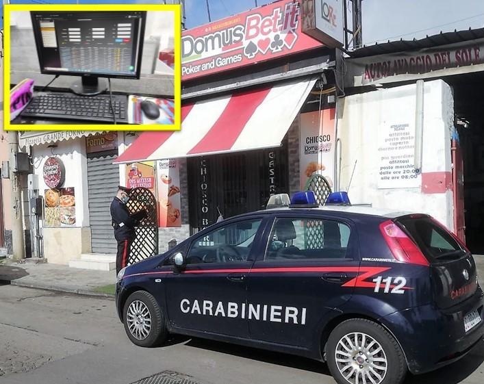 Catania, scoperta una sala scommesse clandestina. Sanzioni e denunce