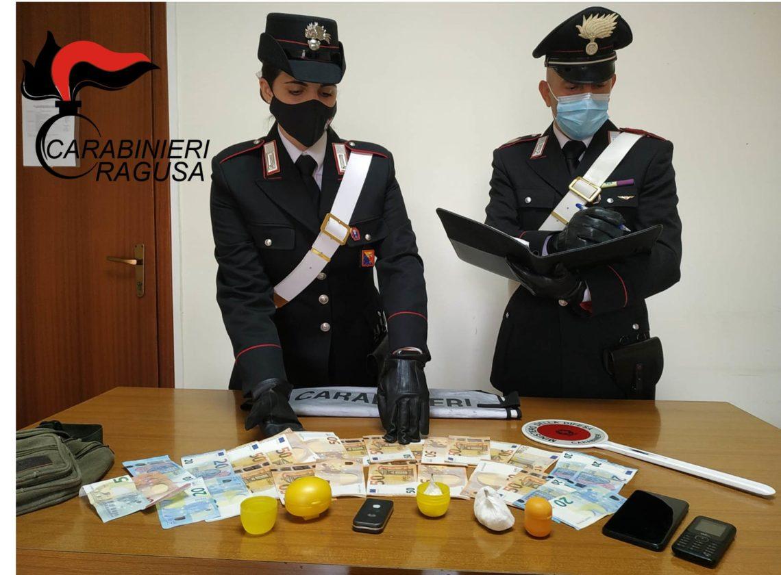 Vittoria: arrestato uomo sorpreso con oltre 40 grammi di cocaina