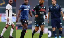 Serie A: Napoli-Lazio infiamma la giornata, l'Atalanta di scena all'Olimpico