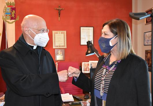 Questura di Ragusa: visita del Cardinale Angelo Bagnasco alla Polizia di Stato