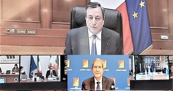 Recovery plan, Musumeci a Draghi: sbagliati metodo e merito