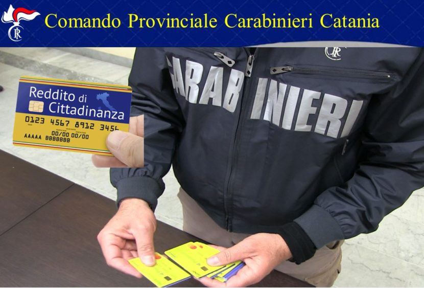 Catania: revoca del reddito di cittadinanza per 76 persone