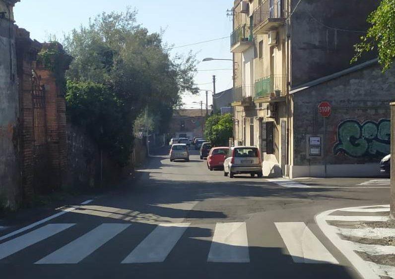 Rifacimento della segnaletica stradale nel quartiere catanese San Nullo