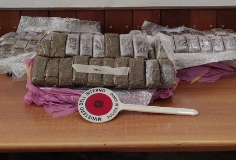 Palermo, Polizia intercetta un carico di droga del valore di duecentomila euro