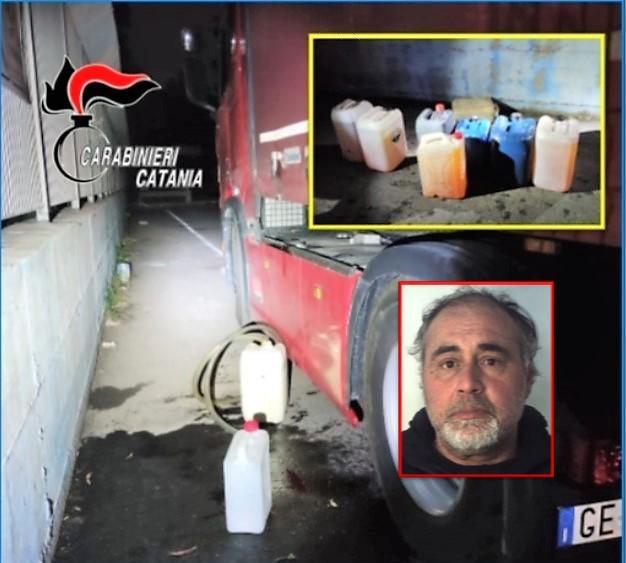 Furti di carburante a Catania: arrestato mentre ruba 200 litri di gasolio