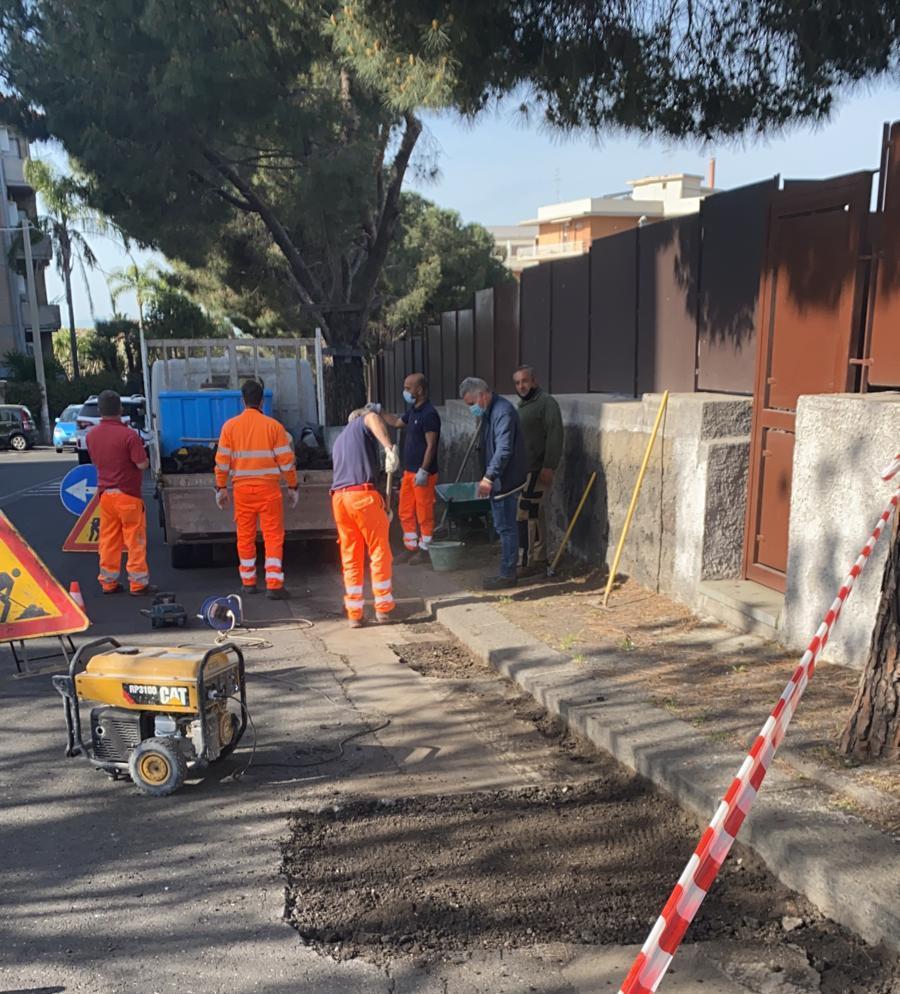 Catania, lavori messa in sicurezza in via Sebastiano Catania nel IV Municipio