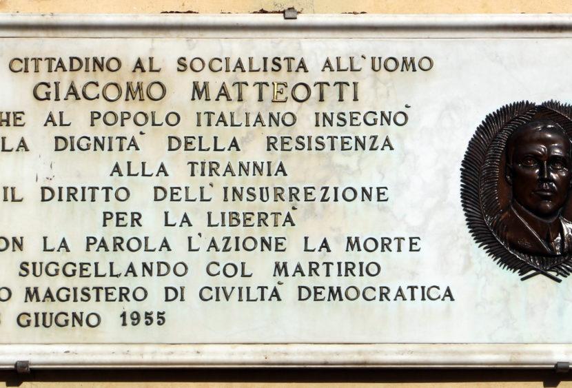 97° anniversario della morte di Giacomo Matteotti