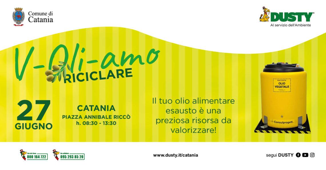 V-Oli-amo RICICLARE, tutti in piazza Riccò per rigenerare l'olio vegetale