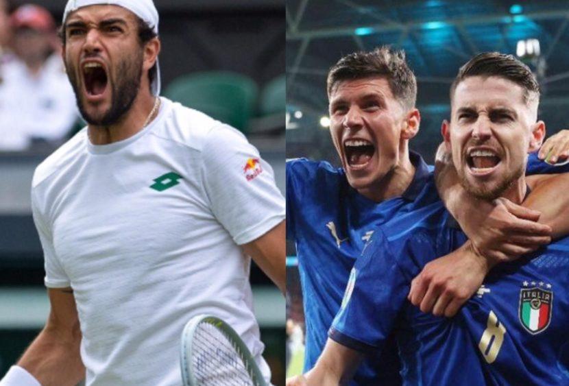 Da Wimbledon a Wembley, da Berrettini alla nazionale. L'Italia chiamò