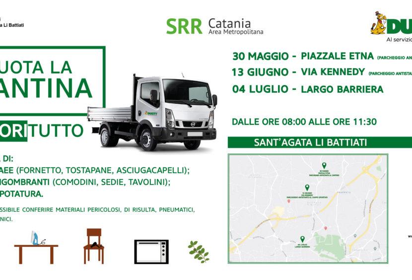 Catania, raccolta rifiuti straordinaria a Sant'Agata Li Battiati