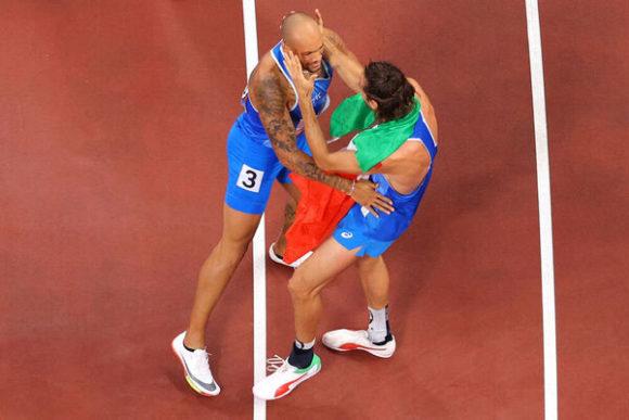 Jacobs e Tamberi nella leggenda: oro nel salto in alto e nei 100 metri