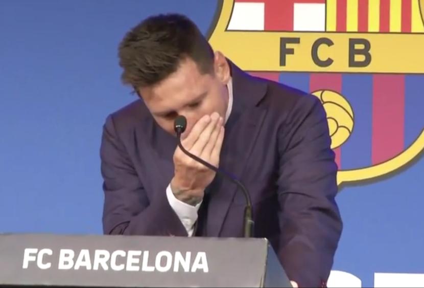"""Messi alla conferenza d'addio: """"Non sono pronto, ma è stato bellissimo"""""""