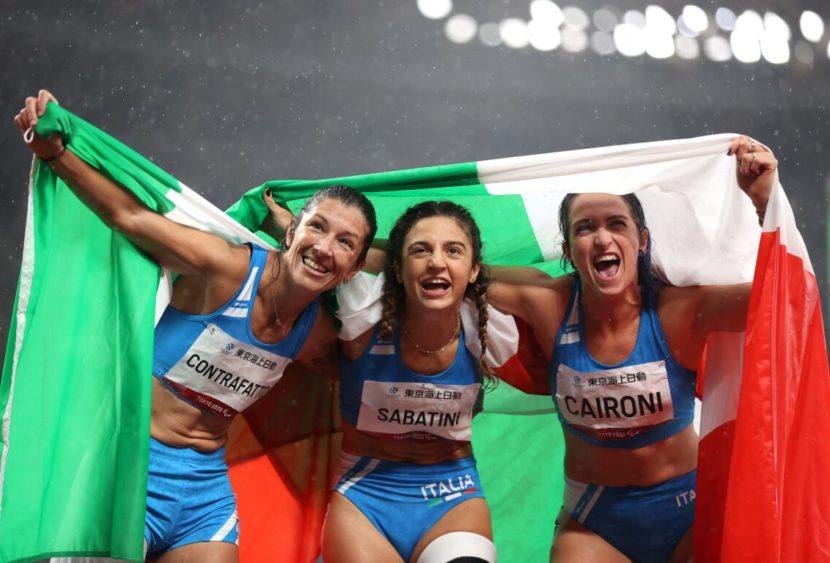 Podio azzurro nei 100 metri femminili: Sabatini, Caironi e Contraffatto vincono tutto