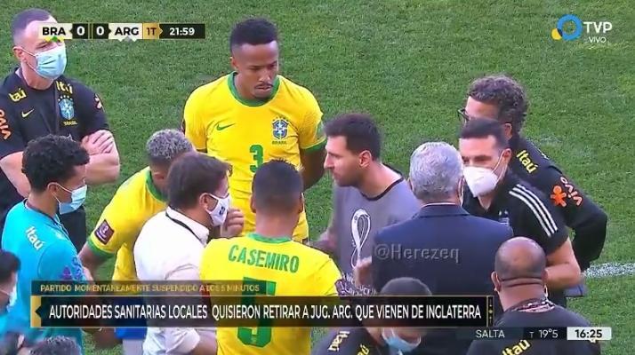 Brasile-Argentina: partita sospesa dopo sette minuti. Incredibile il motivo