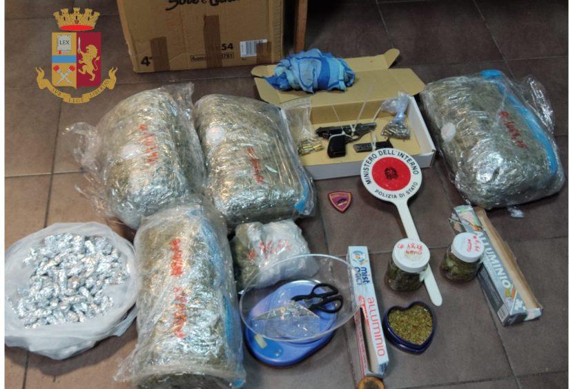 Polizia di Stato arresta pusher: sequestrati marijuana e arma da fuoco