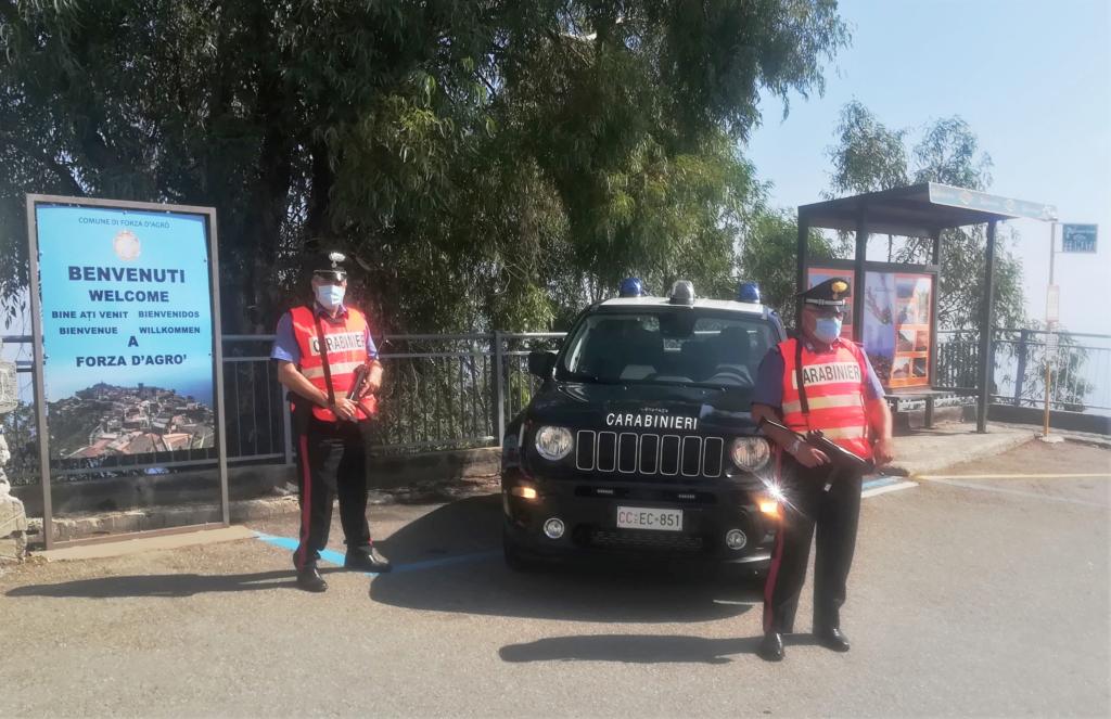 Forza d'Agro (ME): Combustione illecita di rifiuti. Un uomo denunciato dai Carabinieri ~